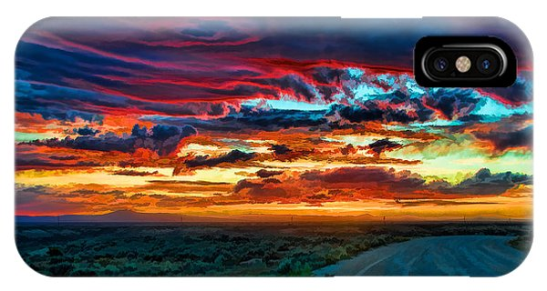 Taos Sunset Iv IPhone Case