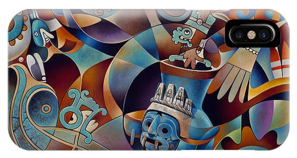 Aztec iPhone Case - Tapestry Of Gods - Tlaloc by Ricardo Chavez-Mendez
