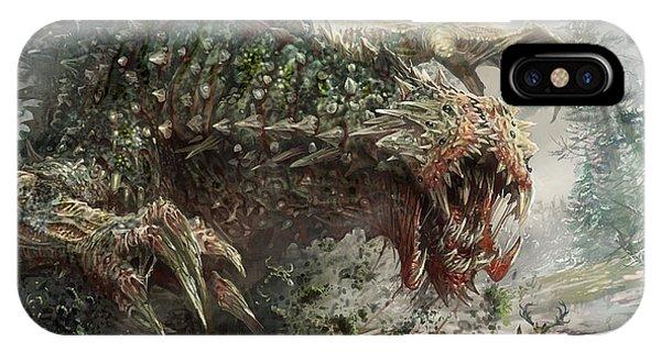 Magic iPhone Case - Tarmogoyf Reprint by Ryan Barger