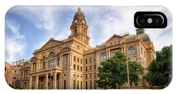 Imposing iPhone Case - Tarrant County Courthouse II by Joan Carroll