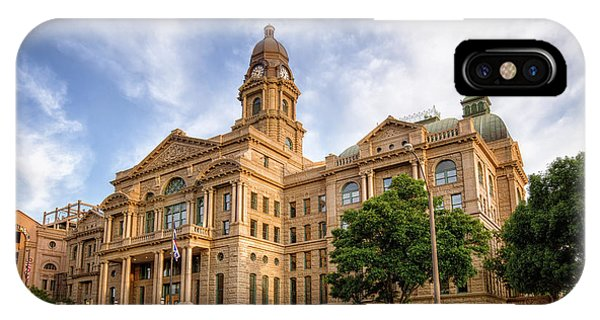 Tarrant County Courthouse II IPhone Case