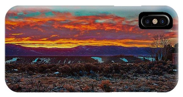 Taos Sunrise IPhone Case