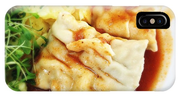 Germany iPhone Case - Tasty Swabian Pockets - Filled Pasta Squares by Matthias Hauser