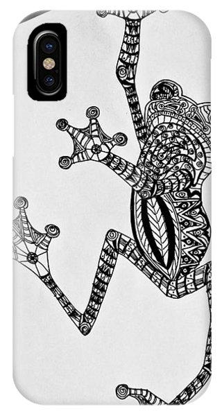 Tattooed Tree Frog - Zentangle IPhone Case
