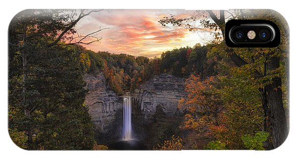 Taughannock Falls Autumn Sunset IPhone Case