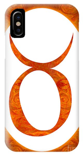Taurus And Sacral Chakra  Abstract Spiritual Artwork By Omaste W IPhone Case