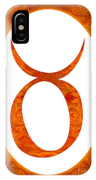 IPhone Case featuring the digital art Taurus And Sacral Chakra  Abstract Spiritual Artwork By Omaste W by Omaste Witkowski
