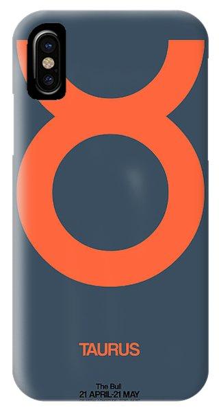 Taurus Zodiac Sign Orange IPhone Case
