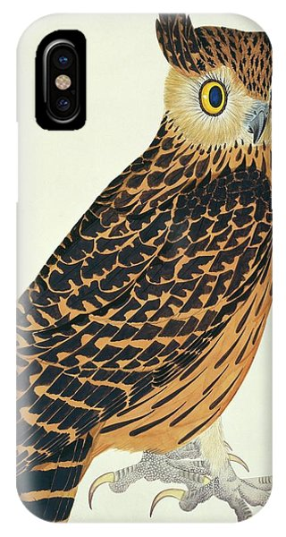 Mottled iPhone Case - Tawny Fish Owl by Natural History Museum, London/science Photo Library