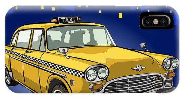 Taxi Cab Phone Case by Volodymyr Horbovyy