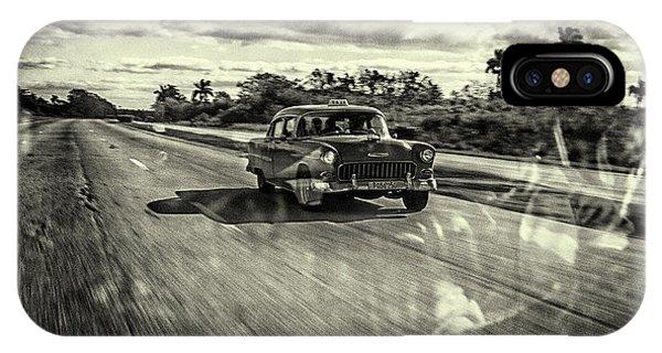 Car iPhone Case - Taxi Havana by Marc Limbach