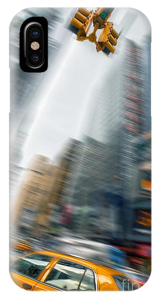 New York City Taxi iPhone Case - Taxi On Times Square by Delphimages Photo Creations