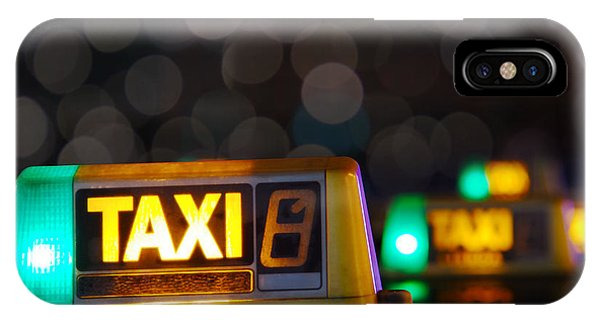 Fare iPhone Case - Taxi Signs by Carlos Caetano