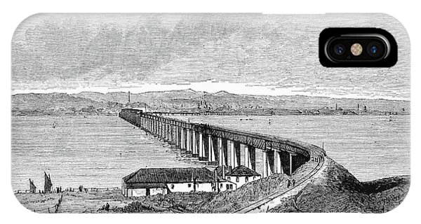 Accident iPhone Case - Tay Rail Bridge, 1879 by Granger