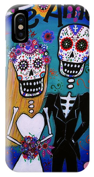 Te Amo Wedding Dia De Los Muertos IPhone Case