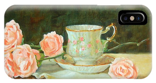 iPhone Case - Tea And Roses by Karen Langley