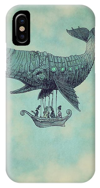 Whale iPhone Case - Tea At Two Thousand Feet by Eric Fan