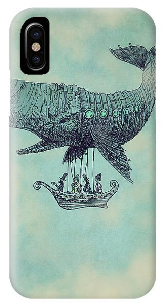 Whales iPhone Case - Tea At Two Thousand Feet by Eric Fan