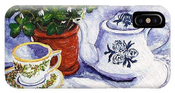 iPhone Case - Tea For Nancy by Barbara McDevitt