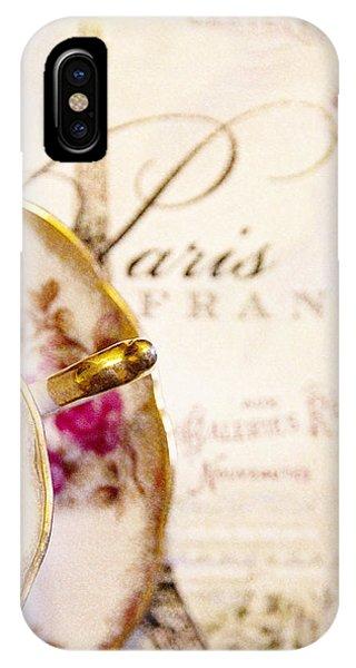 Tea In Paris Phone Case by Rebecca Cozart