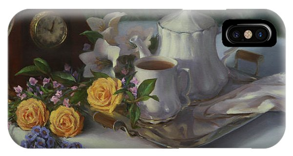 Tea In The Garden IPhone Case
