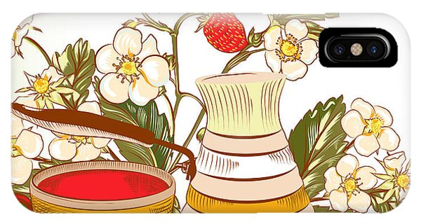 Sign iPhone Case - Tea Or Coffee Vector Background With by Mashakotcur