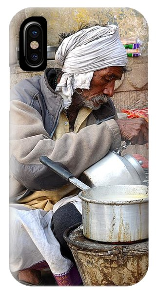 Tea Stall On The Ghats  - Varanasi India IPhone Case
