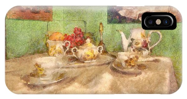 Table For Two iPhone Case - Tea Time  by L Wright