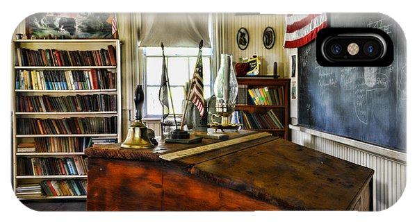 Teacher - Vintage Desk IPhone Case