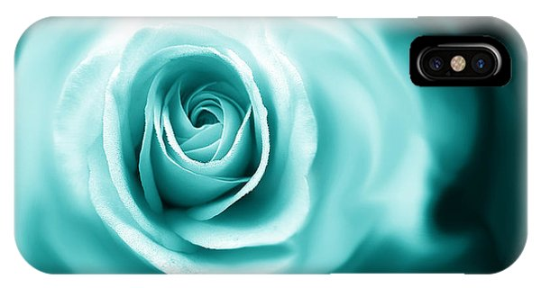 Teal Rose Flower Abstract IPhone Case