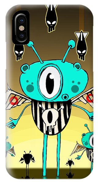 Cyclops iPhone Case - Team Alien by Johan Lilja