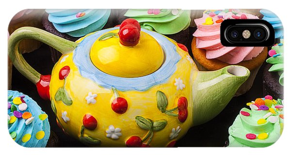 Teapot And Cupcakes  IPhone Case