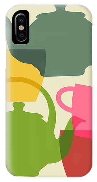 Teapot And Teacups IPhone Case
