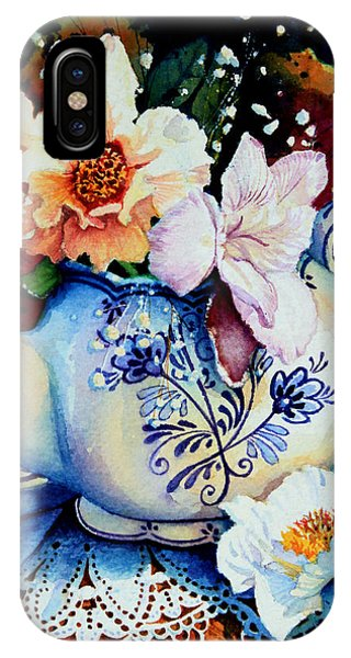Teapot Posies And Lace IPhone Case