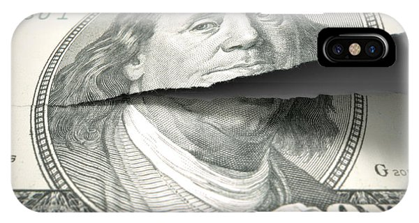 Equal iPhone Case - Tearing American Dollar by Allan Swart
