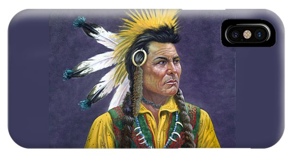Proud iPhone Case - Tecumseh by Gregory Perillo