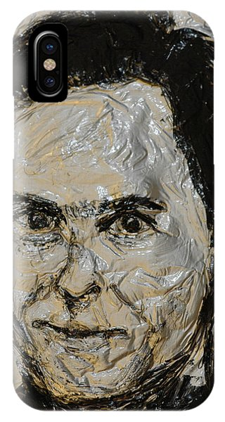 Ted Bundy iPhone Case - Ted Bundy In Black And White by Norman Twisted