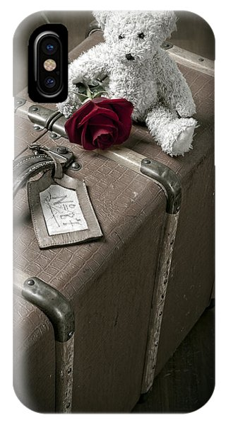 Floral iPhone Case - Teddy Wants To Travel by Joana Kruse