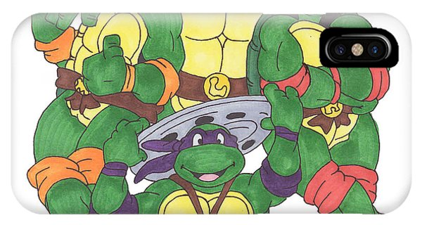 Raphael iPhone Case - Teenage Mutant Ninja Turtles  by Yael Rosen