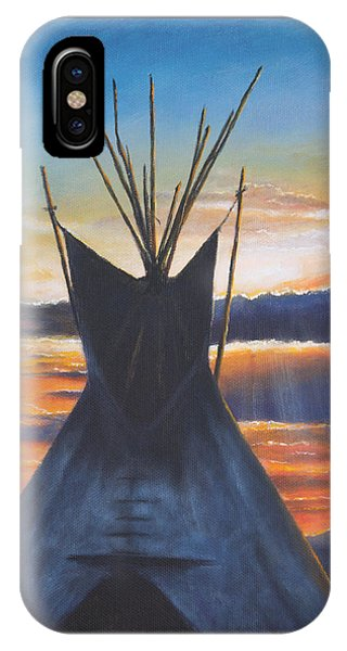 Teepee At Sunset Part 1 IPhone Case