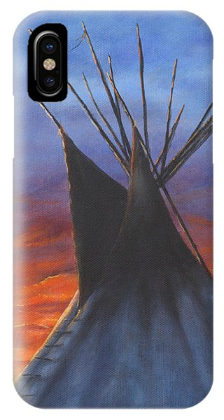 Teepee At Sunset Part 2 IPhone Case