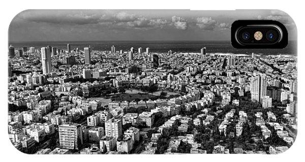 Tel Aviv Center Black And White IPhone Case