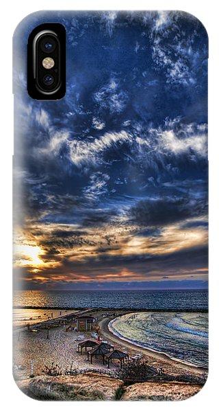 Tel Aviv Sunset At Hilton Beach IPhone Case
