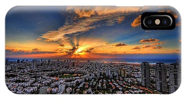 Tel Aviv Sunset Time IPhone Case