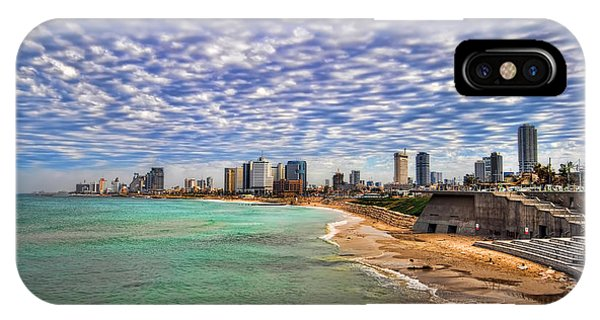 Tel Aviv Turquoise Sea At Springtime IPhone Case