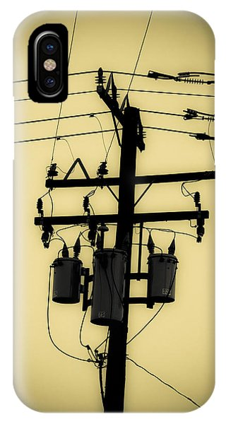 Telephone Pole 3 IPhone Case