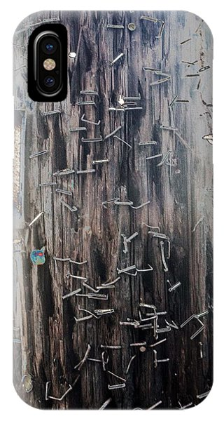Telephone Pole With Scars From The Past IPhone Case