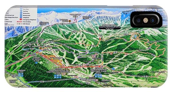 iPhone Case - Telluride Ski Map Detail  by David Lee Thompson