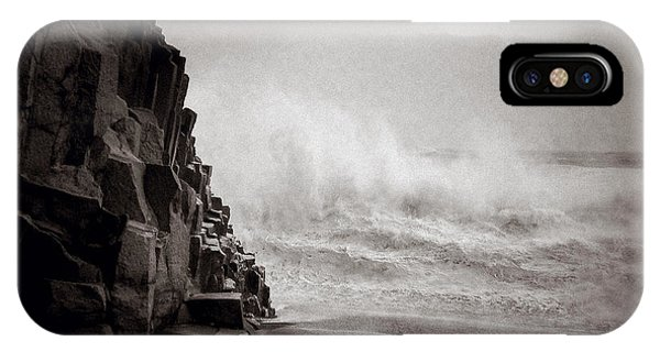 Basalt iPhone Case - Raging Sea by Dave Bowman