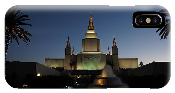 Temple At Night IPhone Case